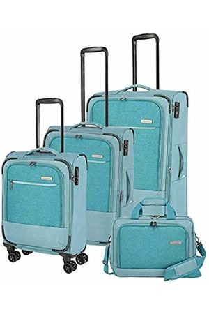 """Elite Models' Fashion Reisegepäck-Serie """"Arona"""" von : attraktive Trolleys und Bordtaschen in 3 Farben Luggage Set 77 Centimeters 195 Turquoise (Aqua)"""