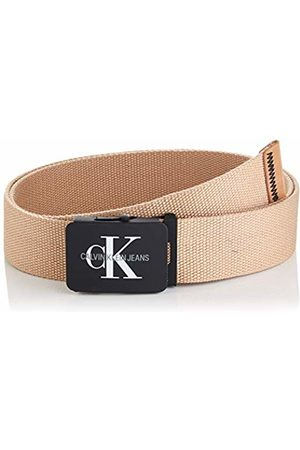 Calvin Klein Men's J 4cm Adj.monogram Canvas Belt (Tannin 229)