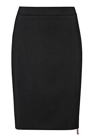 HUGO BOSS Slim-fit skirt in lightly worsted stretch wool