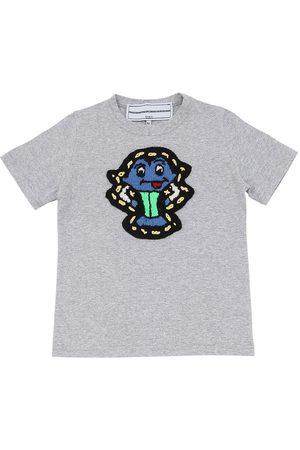 MICHAELA BUERGER Cotton Jersey T-shirt W/ Knit Patch