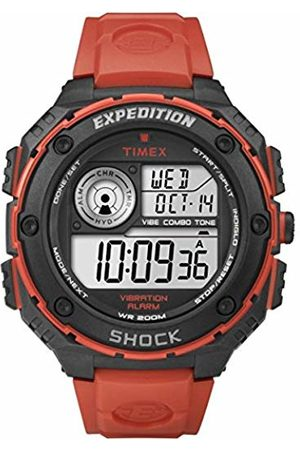 Timex Men's Quartz Watch with LCD Dial Digital Display and Resin Strap T49984