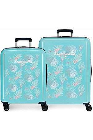 Pepe Jeans Taking Off Luggage Set 70 Centimeters 119.4 (Verde)