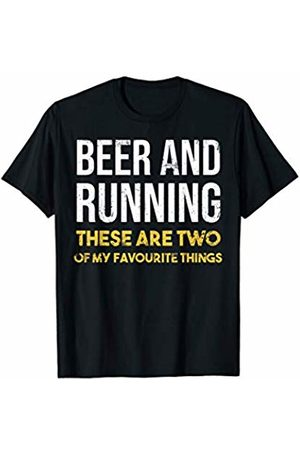 Sloth running team shirt Beer and running are two of my favorite things funny shirt T-Shirt
