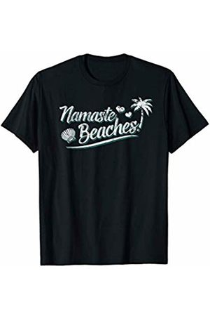 Summer Vibes by Clique Namaste Beaches Funny Yoga Lovers Beach T-Shirt