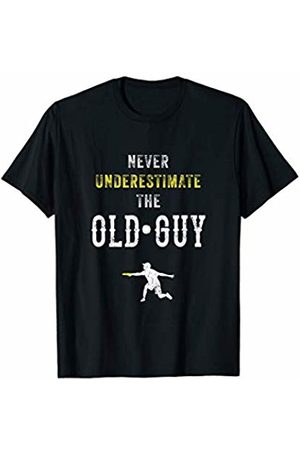 Disc Golf Shirt Never Underestimate the Old Guy Disc Golf Frisbee T T-Shirt