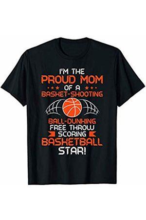 Basketball Mom Dad Designs Basketball Mom Loud Proud Team Player Heart Gym Basket T-Shirt