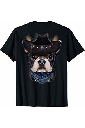 Fox Republic T-Shirts Cute French Bulldog in Cowboy Hat and Bandana T-Shirt
