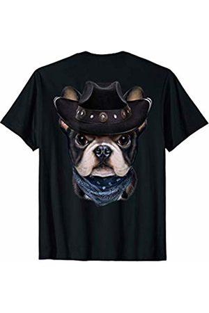 Fox Republic T-Shirts Cute French Bulldog in Cowboy Hat and Bandana T-Shirt