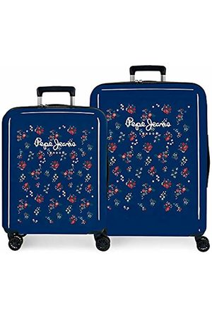 Pepe Jeans Taking Off Luggage Set 70 Centimeters 119.4 (Azul)