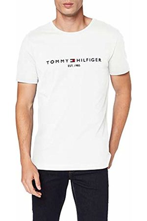 Tommy Hilfiger Men's Tommy Flag Hilfiger Tee Sports Shirt, Snow 118