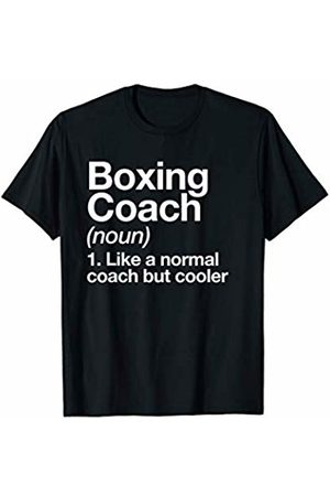 Boxing Coach Funny Sports Typography Designs Boxing Coach Funny Sports Definition Trainer Gift T-Shirt
