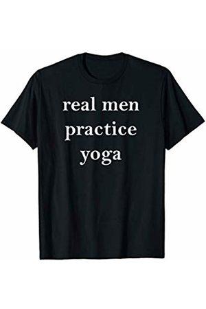 Buy Cool Shirts Mens Real Men Practice Yoga T-Shirt