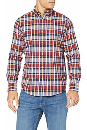GANT Men's D1. Oxford Plaid Reg Bd Casual Shirt, (Persian 423)