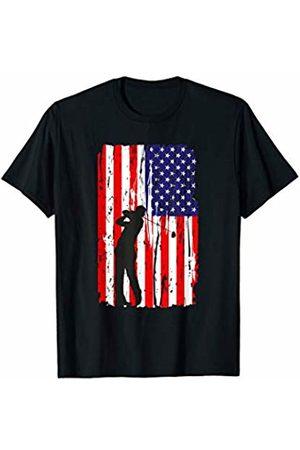 Funny Golfing Shirts Co. Golf American Flag Dad TShirt Golfing Course Par Gift Tee T-Shirt