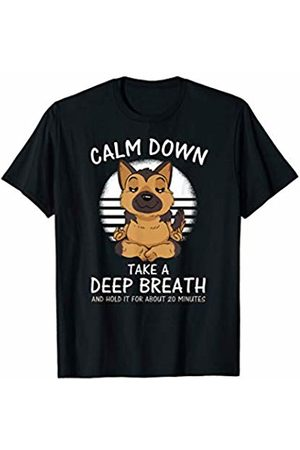 Funny Calm Down Yoga German Shepperd, Perfect gift Calm Down Shirt Yoga German Shepperd