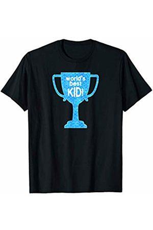 PROUD PARENT PRESS WORLD'S BEST KID award trophy Birthday son daughter children T-Shirt