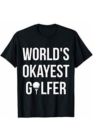 Worlds Okayest Golfers Worlds Okayest Golfer - Golf Husband Golf Boyfriend T-Shirt