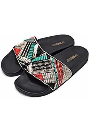 THE WHITE BRAND Women's Etnic Open Toe Sandals