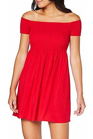 Urban classics Women's Ladies Smoked Off Shoulder Dress (Fire 00697)
