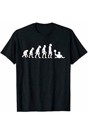 Family Men Women Kids Water Polo Team Gifts Idea Funny Human Water Polo Evolution Aquatic Pool Soccer Player T-Shirt