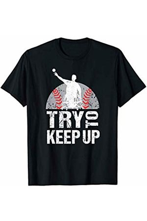 Wheelchair Sports Tees Men T-shirts - Funny Wheelchair Athlete Baseball Paralympics Player Sports T-Shirt