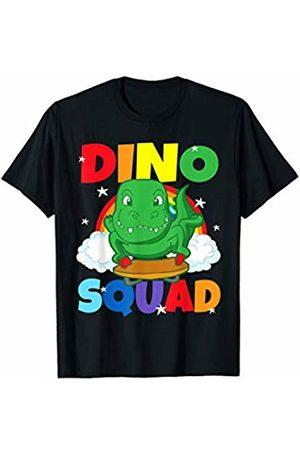 Tee Styley Dino Squad T Rex Luge Sledding Dinosaur Funny Humor T-Shirt