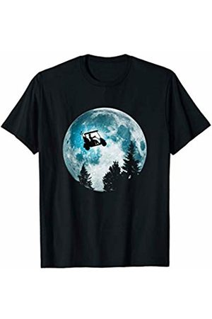 Golfer on the Moon Golf Cart on the Moon Men or Ladies Night T-Shirt