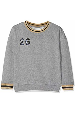 Name it Girl's Nkfkossa Ls Unb Sweat Sweatshirt, Melange