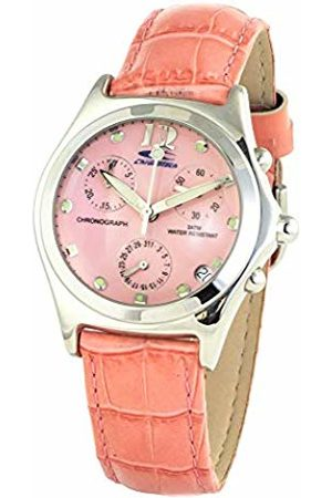 Chronotech Womens Analogue Quartz Watch with Leather Strap CT7186-04