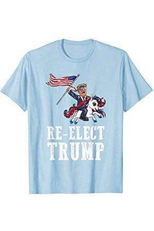 Trump 2020 Republican Election Apparel Re-Elect Trump American Flag Sunglasses Unicorn Funny Gift T-Shirt