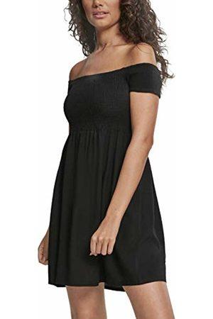 Urban classics Women's Ladies Smoked Off Shoulder Dress 00007