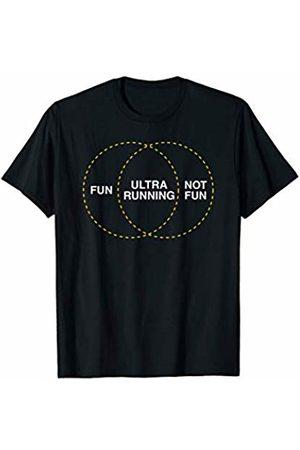 Funny Ultramarathon Shirts & More Fun ultra running not fun venn diagram for ultra runners T-Shirt