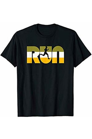 Nature Rush Outdoor Sports Threads RUN Vintage Seventies Color Typography Retro Runner T-Shirt