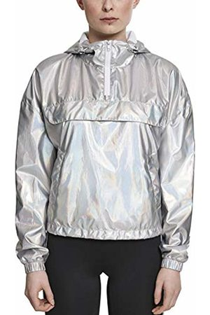 Urban classics Women's Ladies Holographic Pull Over Jacket
