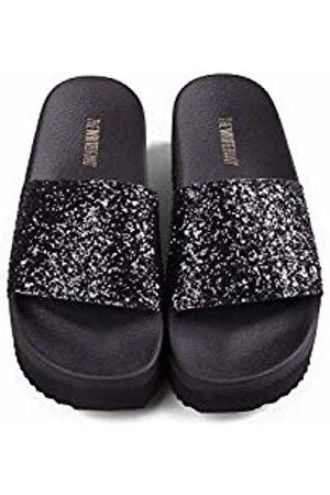 THE WHITE BRAND Women Sandals - Women's High Glitter Platform Sandals