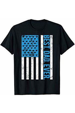 Merchalize Best Dad Ever 4th Of July American Flag USA Vintage Gift T-Shirt