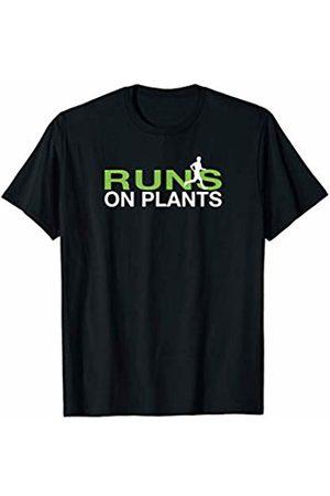 Awesome Vegetarian Runner Shirts Runs on Plants Shirt Plant Based Vegan Runner T-Shirt