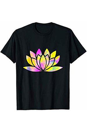 es designs Beautiful Watercolor Art Lotus Flower Yoga Meditation T-Shirt