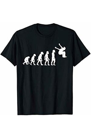 Family Men Women Kids Parkour Team Gifts Idea Funny Human Parkour Evolution Freestyle Free Running Jumping T-Shirt