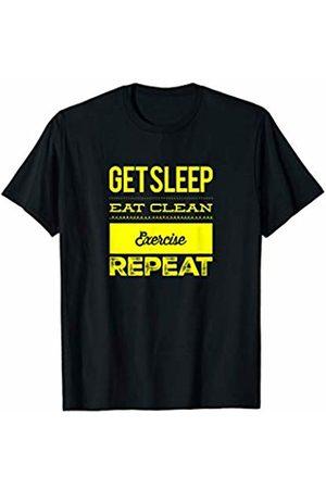 Cool Workout Shirt Designs Get Sleep Eat Clean Exercise Repeat Workout Shirt T-Shirt
