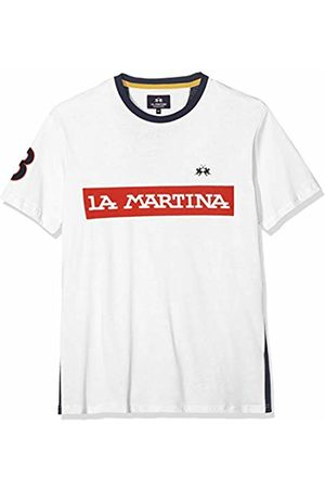 La Martina Men's Man T-Shirt S/s Cotton Jersey Kniited Tank Top, ( 00002)