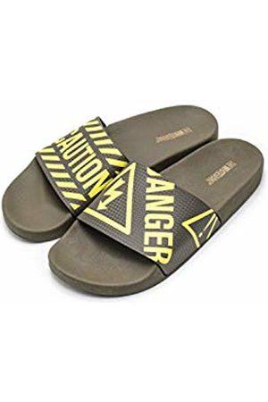 THE WHITE BRAND Men's Danger Open Toe Sandals, Army