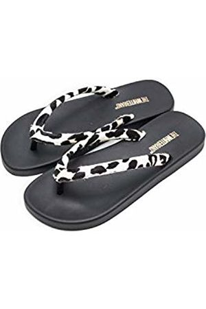 THE WHITE BRAND Women's Wild Flip Flops, Cow