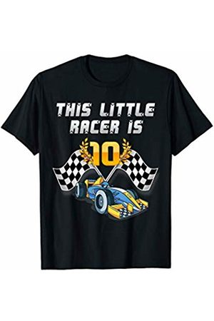 Race Car Birthday Theme for Kids Apparel Co. Sports Car Racing Birthday Race Driver Tshirt 10 Years Old T-Shirt