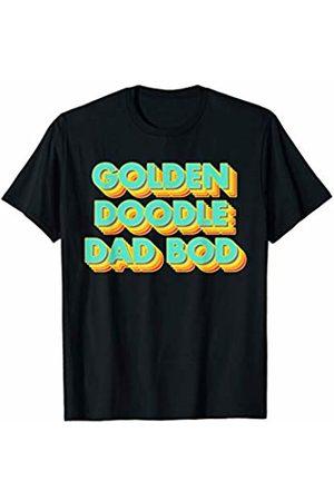 Fitness Dog Dad Bod Apparel Co. Mens Gym Golden Doodle Dog Dad Bod Pet Father Fitness T-Shirt