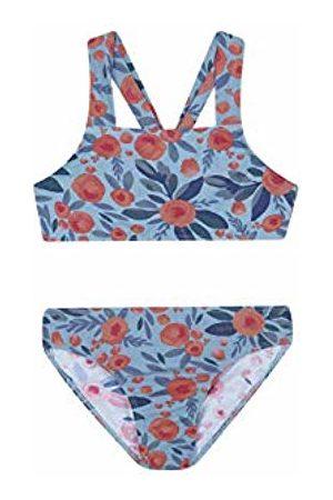 Gocco Girl's Bikini Flor Grande (Azul CLARO ZD)