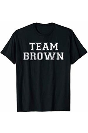 Family Team Surnames Novelty Shirts & Apparel Funny Family Sports Team Brown Last Name Brown T-Shirt