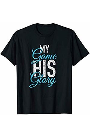 J. Berg Sports My Game His Glory Jesus Christian Faith Sports Athlete Gifts T-Shirt