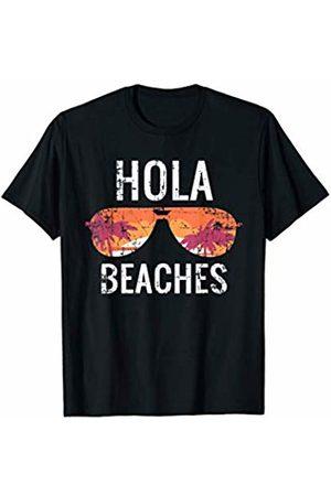 Hola Beaches Shirt Co. Vintage Hola Beaches Sunglasses Summer Summertime Beach Gift T-Shirt
