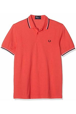 Fred Perry Men's M3600-B43 Polo Shirt, (Tropical /Lavender/Carbon)